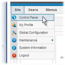 Joomla Installation Control Panel