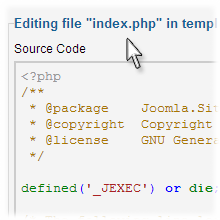 Joomla PHP Files