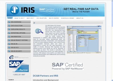 IRIS SAP Data Website