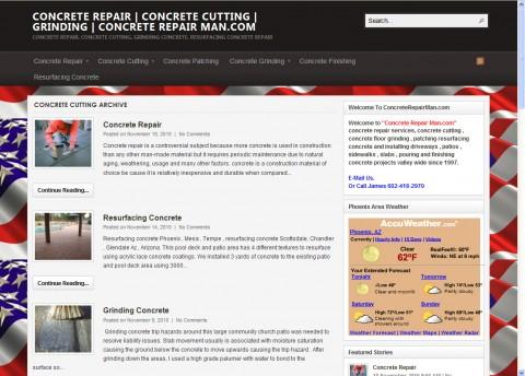 Concrete Repairman Website