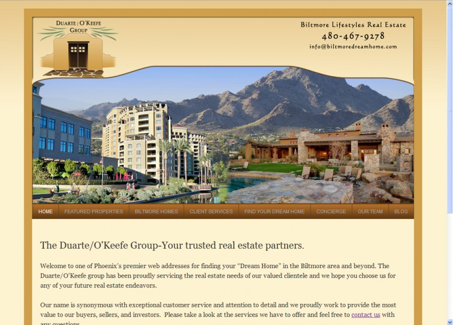 Duarte OKeefe Group Real Estate Website