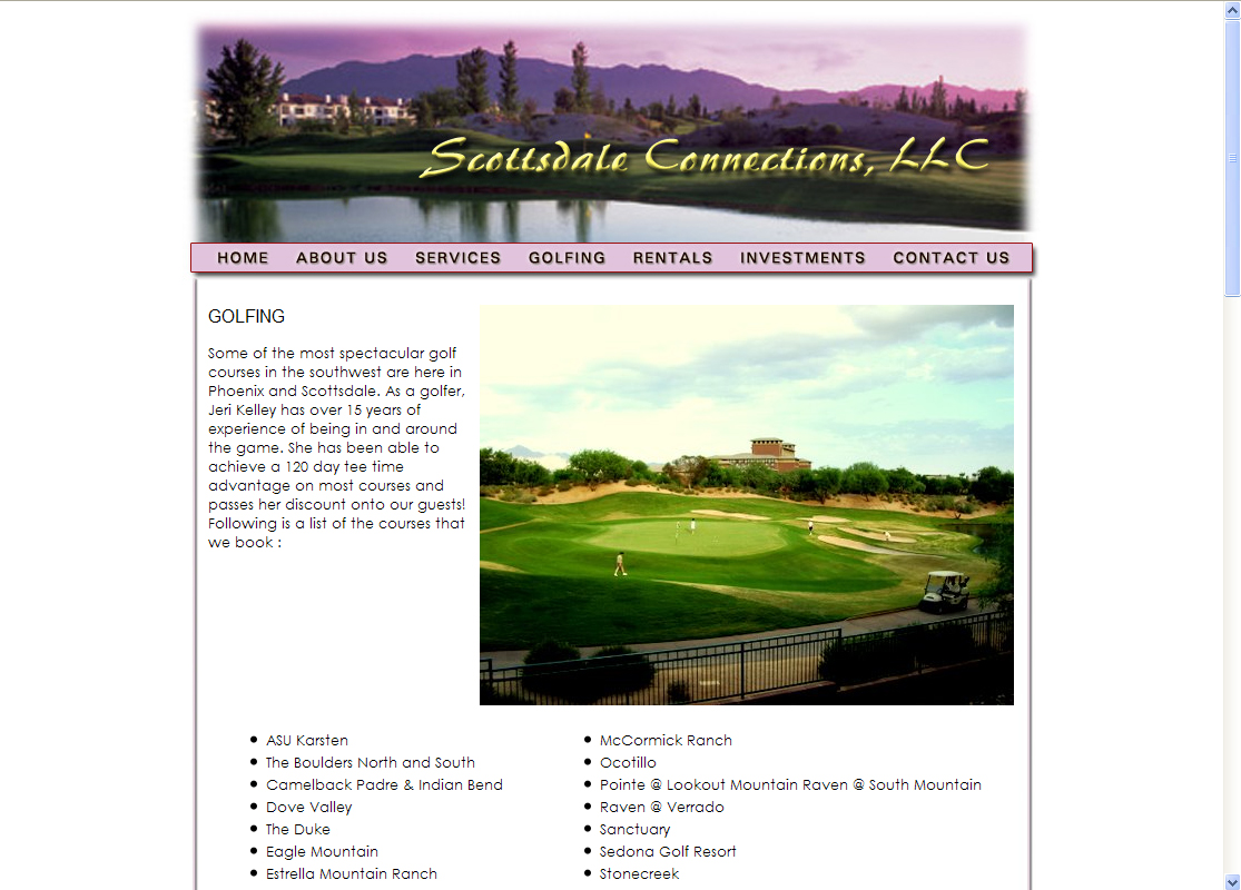 Scottsdale Connections Real Estate Website by Web Guy Arizona