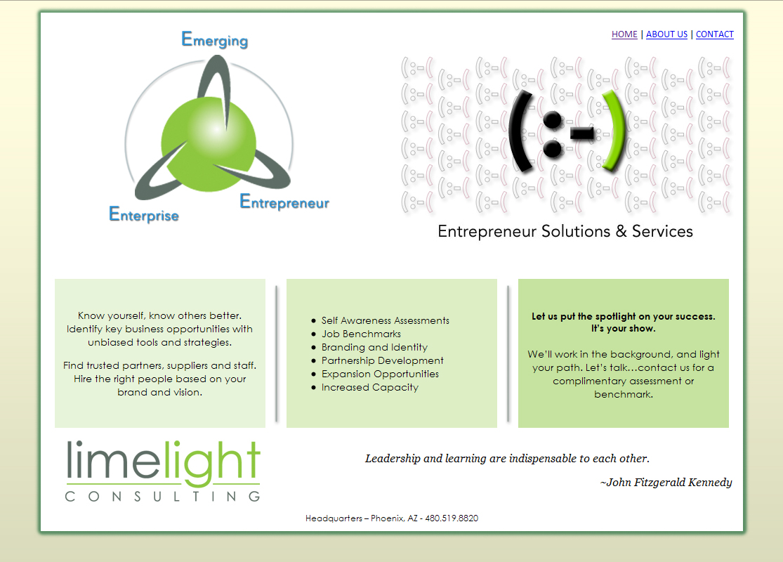 Limelight Consulting WordPress Website by Web Guy Arizona