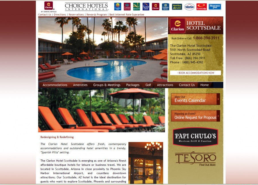 Hotel Scottsdale Website