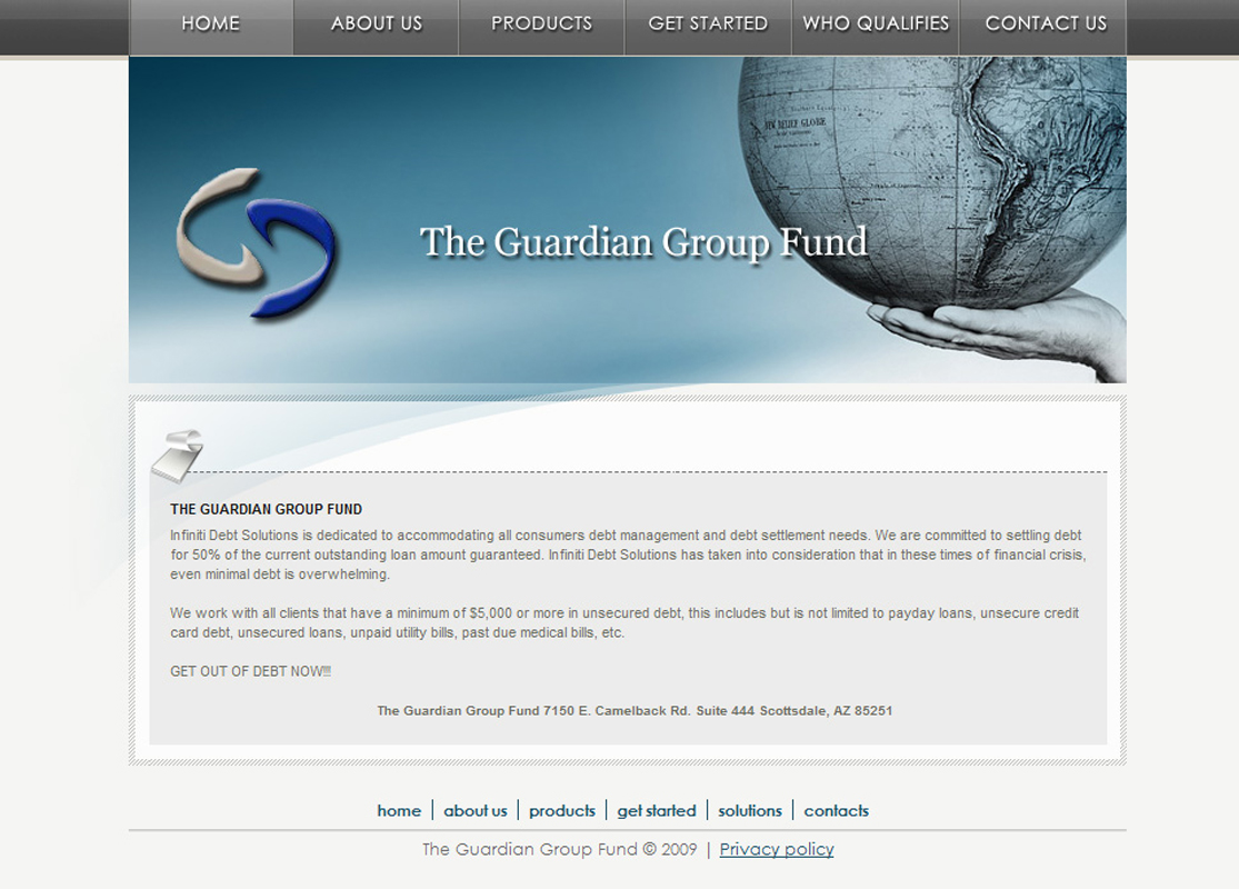 The Guardian Group Fund WordPress Website by Web Guy Arizona