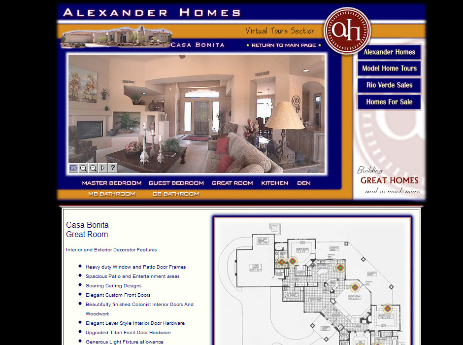 Alexander Custom Homes Website by Web Guy Arizona