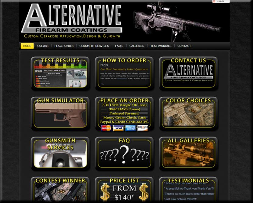 Alternative Firearm Coating Website