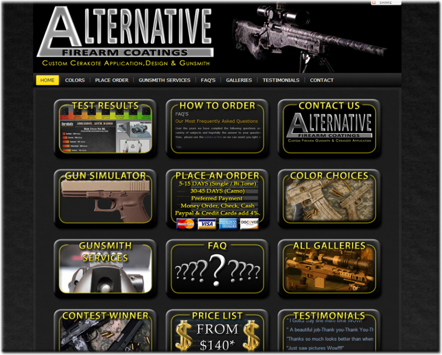 Alternative Firearm Coatings Website