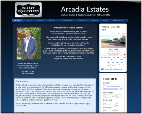 Arcadia Estates Website