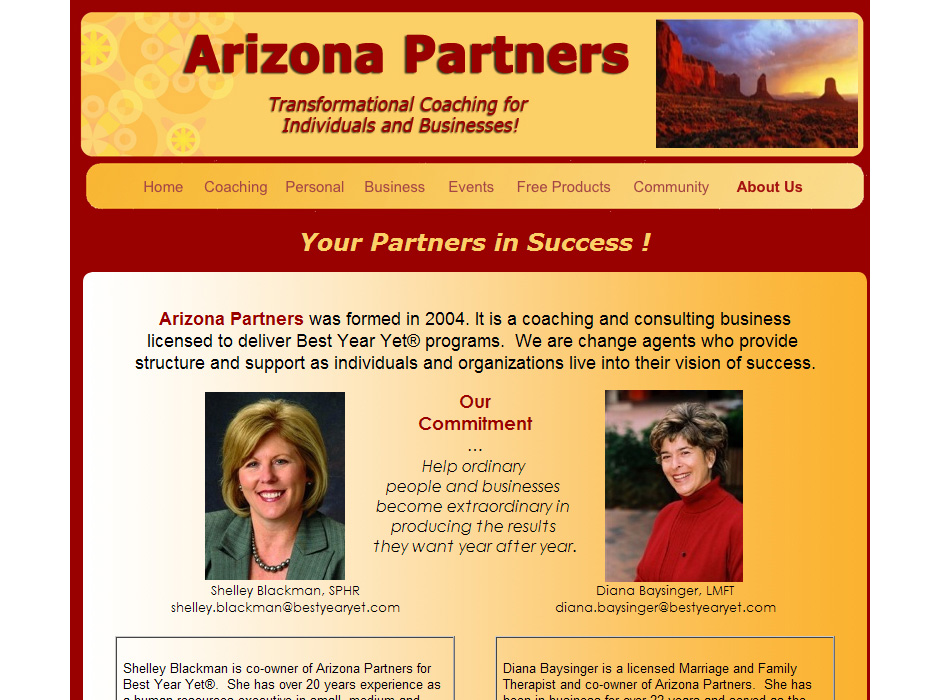 Arizona Partners Website