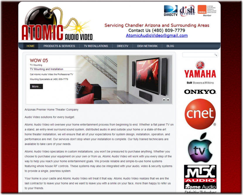 Atomic Audio Video Website