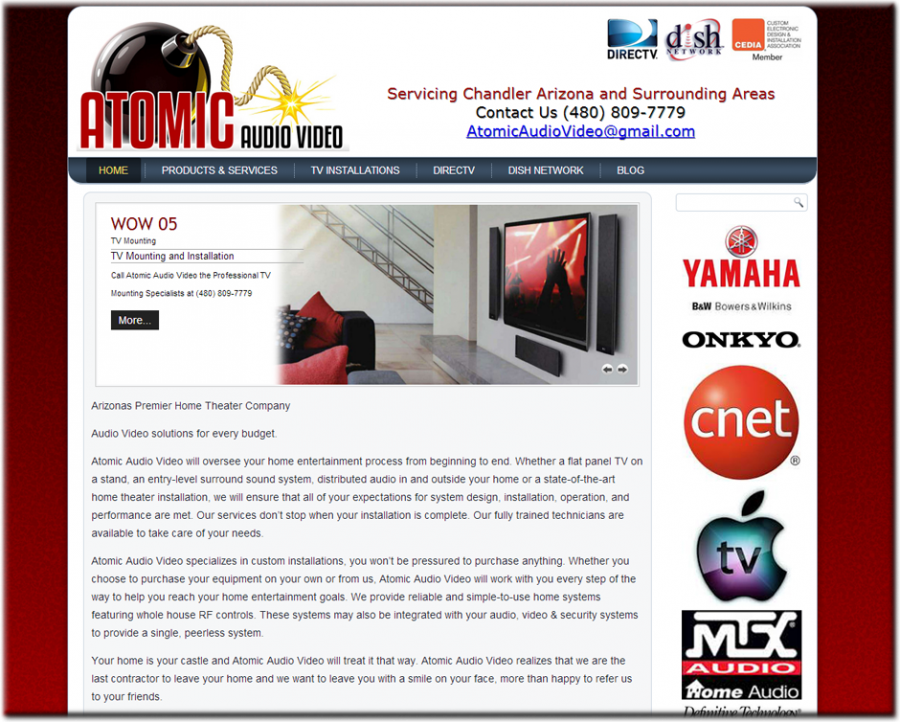 Atomic Audio Video Website