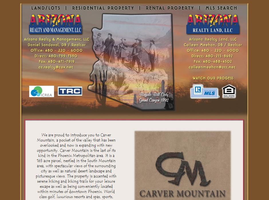 Arizona Realty and Management Website by Web Guy Arizona
