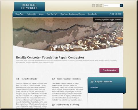 Belville Concrete Website
