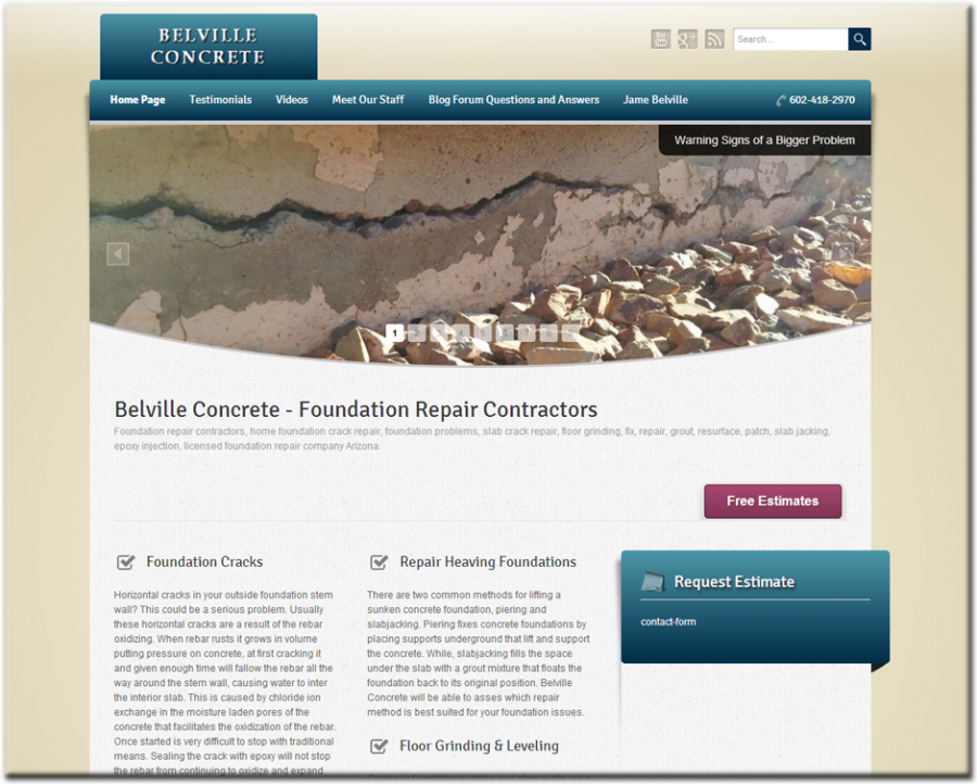 Belville Concrete Website