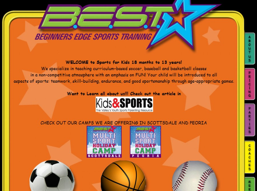 Beginners Edge Sports Training Website
