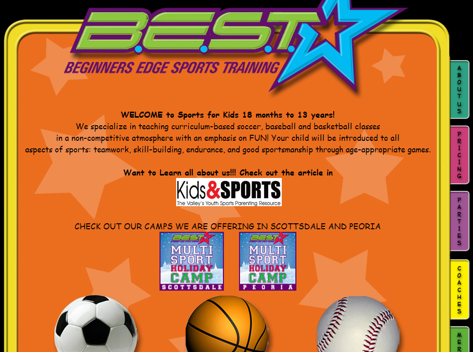 Beginners Edge Sports Training Website by Web Guy Arizona