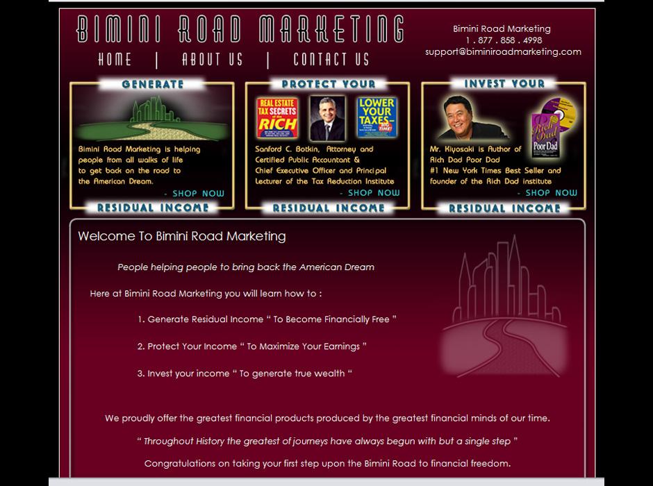 Bimini Road Marketing Website by Web Guy Arizona