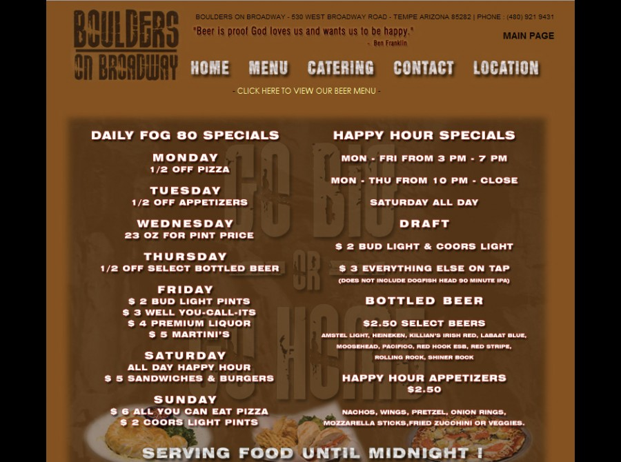 Boulders on Broadway Website