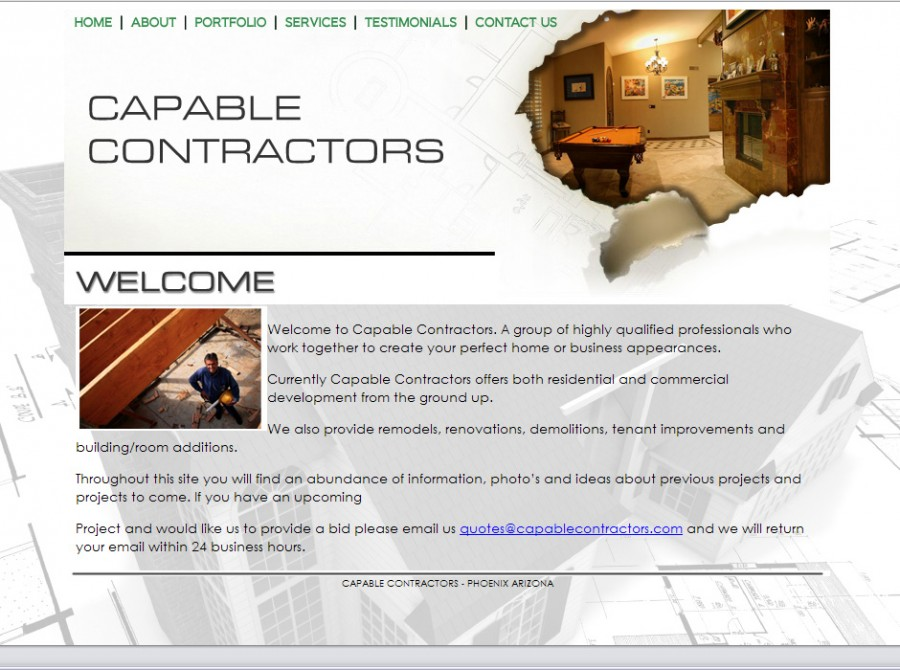 Capable Contractors Website