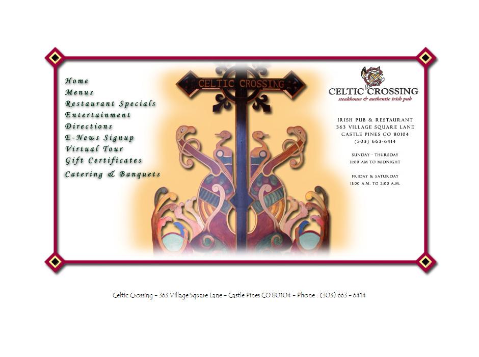Celtic Crossing Restaurant Website by Web Guy Arizona
