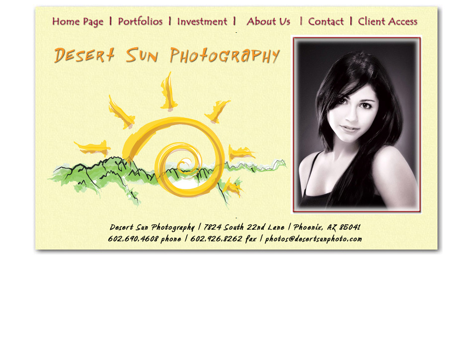 Desert Sun Photography Website by Web Guy Arizona