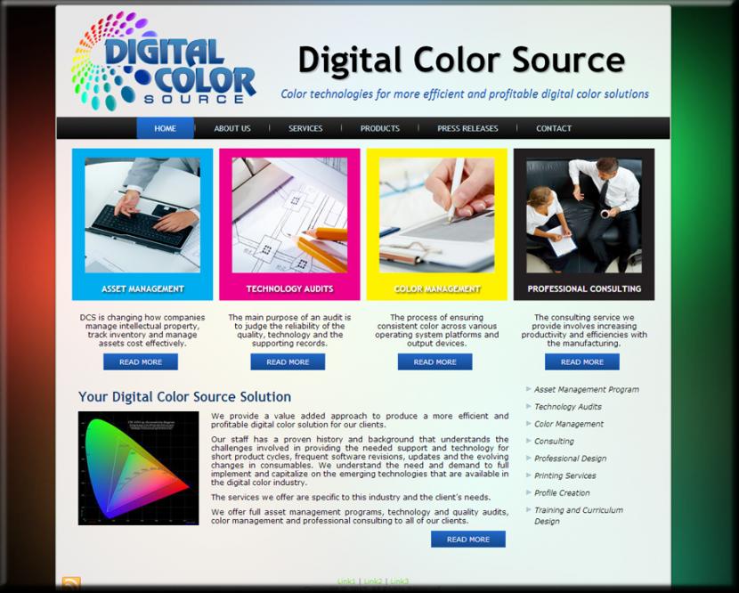 Digital Color Source Website