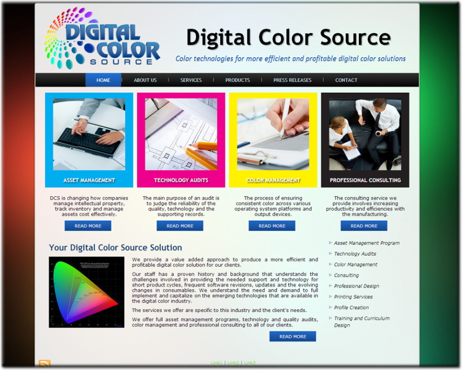 Digital Color Source Website