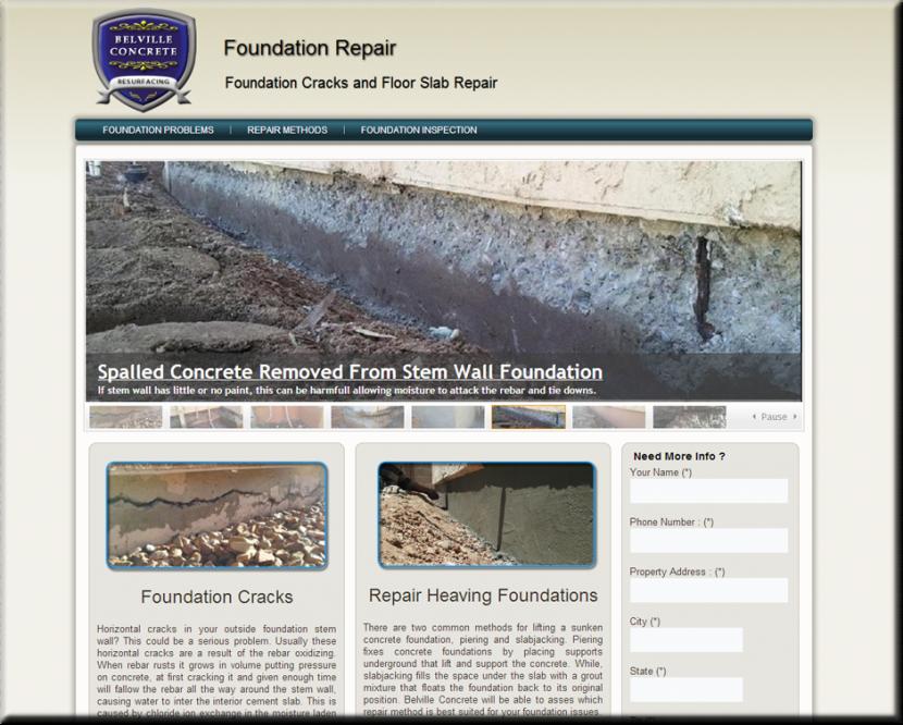Foundation Repair Website