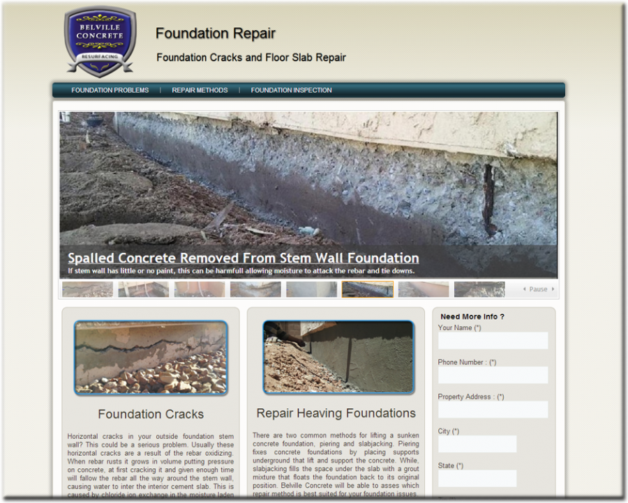 Foundation Repair Website