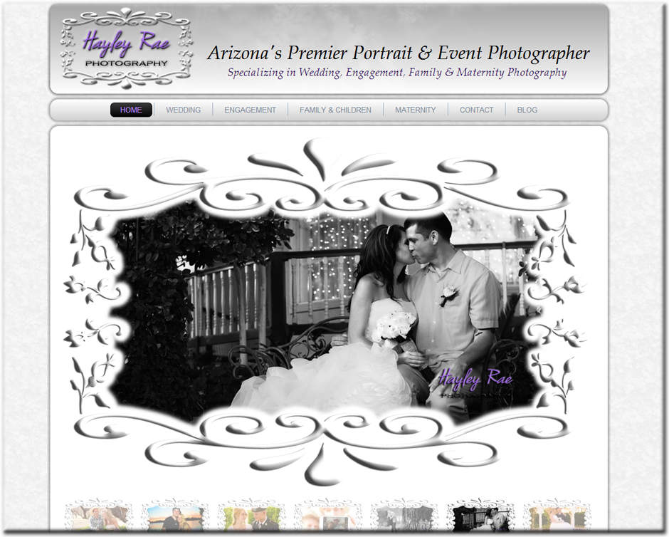 Hayley Rae Photography WordPress Website