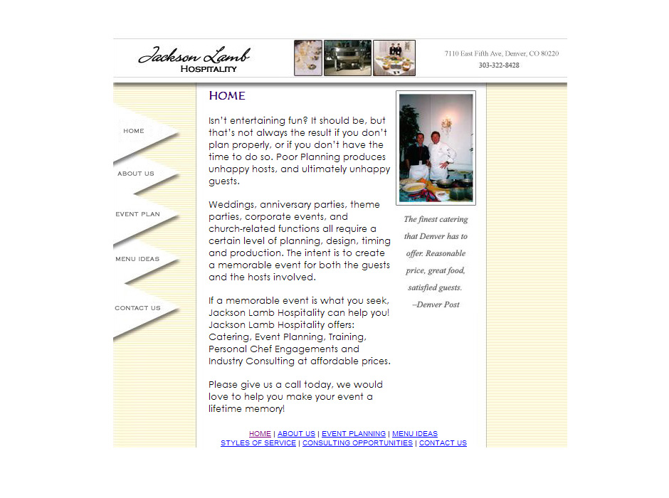 Jackson Lamb Hospitality Website by Web Guy Arizona