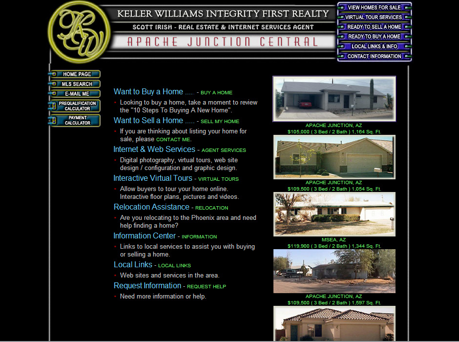 Keller Williams Integrity First Realty Website by Web Guy Arizona