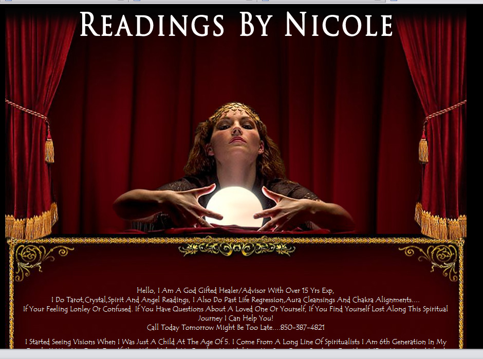 Readings by Nicole Website by Web Guy Arizona