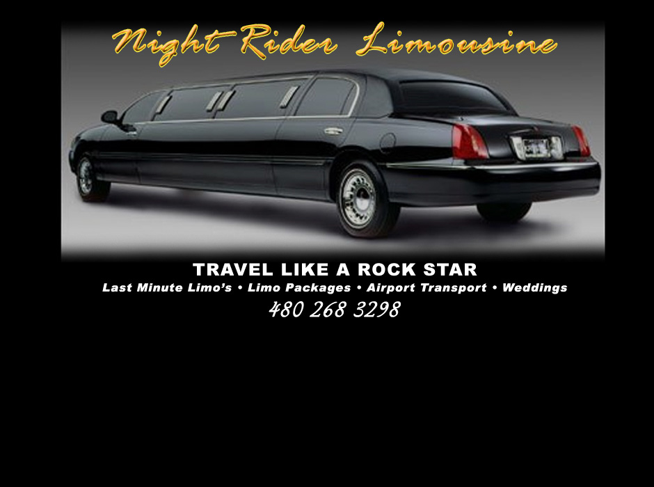 Night Rider Limousine Website by Web Guy Arizona