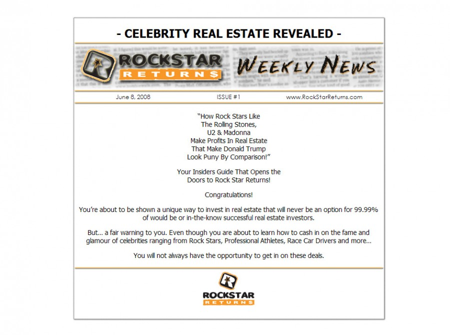 Rockstar Real Estate Website