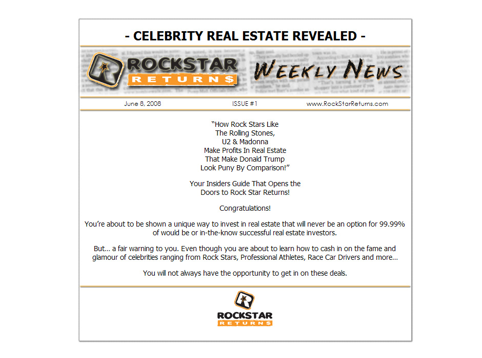 Rockstar Returns Real Estate Website by Web Guy Arizona