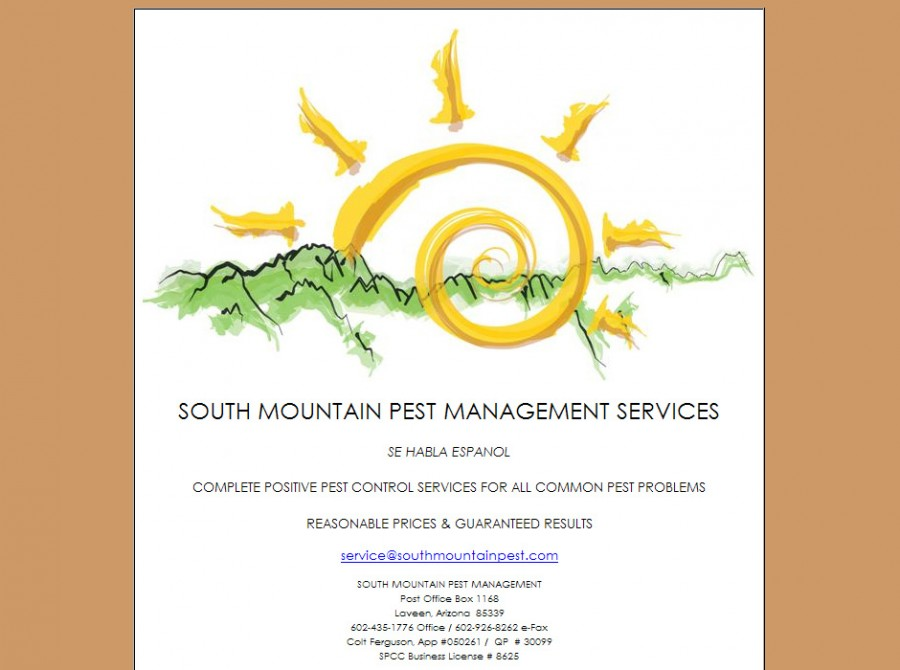 South Mountain Pest Management Website