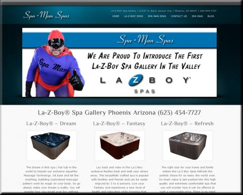 Spa Man Spas Website