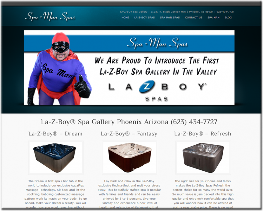Spa Man Spas Website