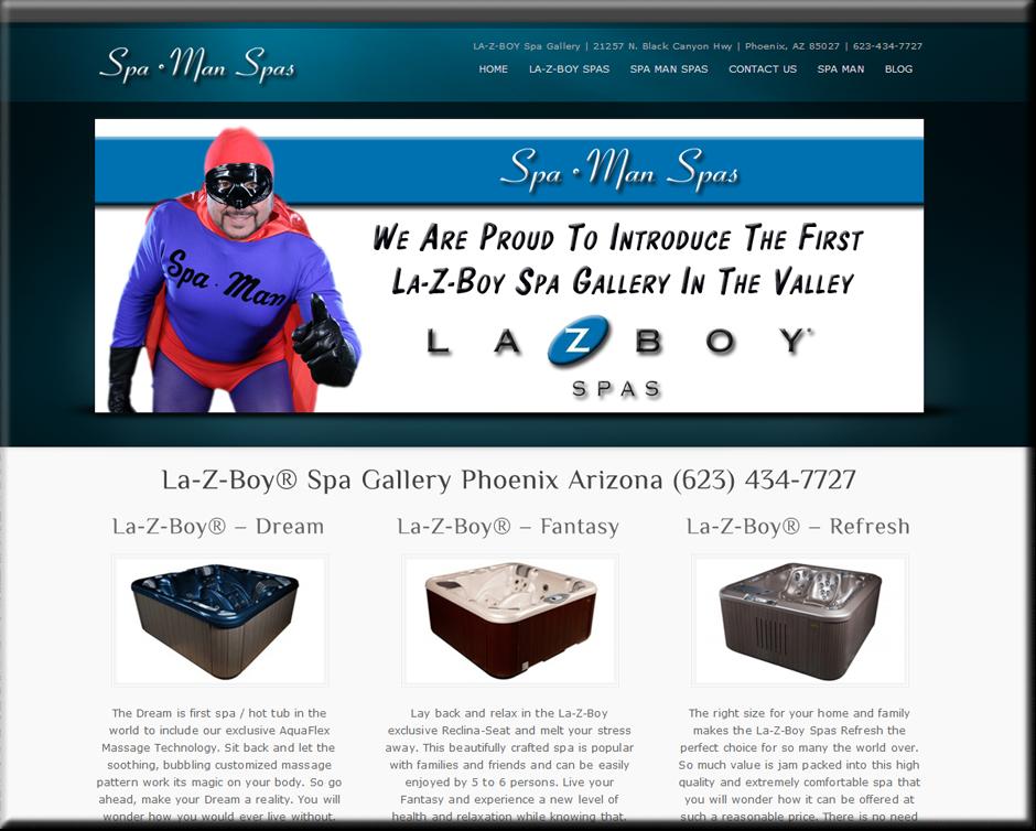 Spa Man SpasWordPress Website by Web Guy Arizona