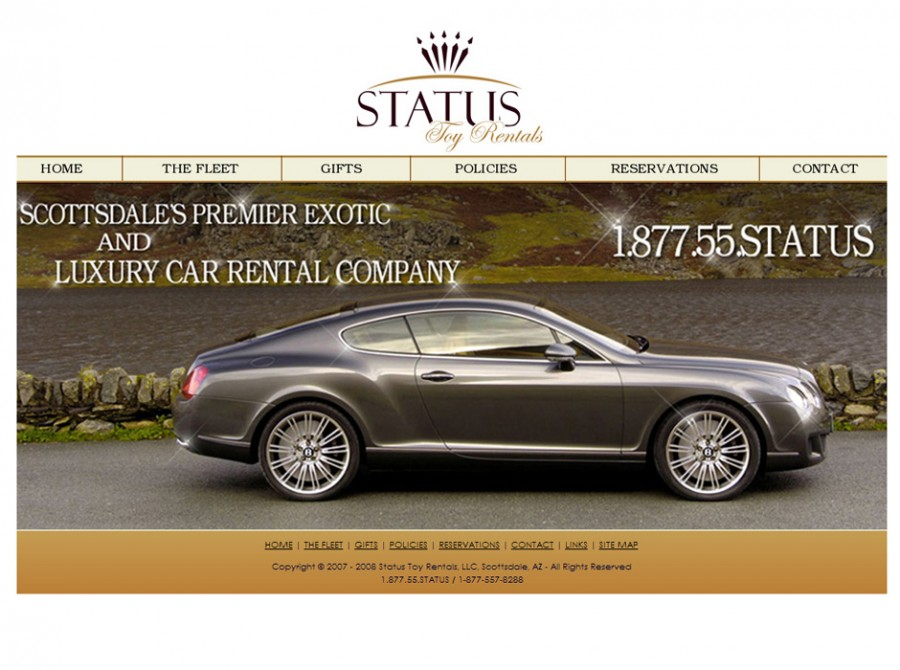 Status Toy Car Rental Website