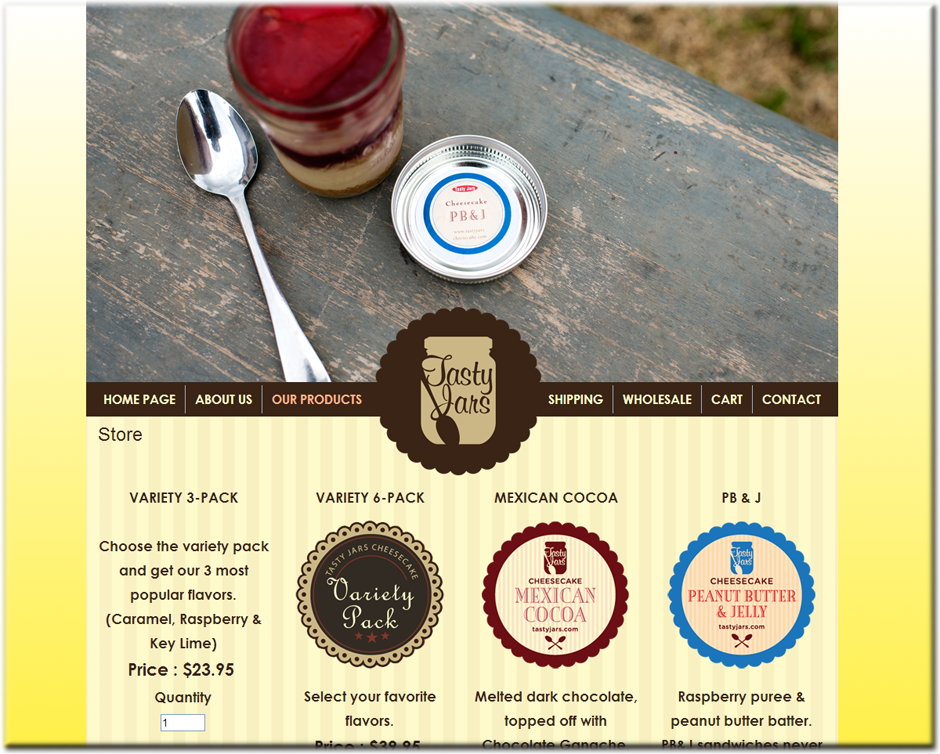 Tasty Jars WordPress Website by Web Guy Arizona