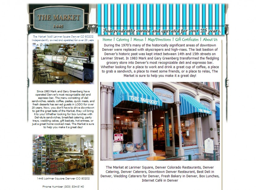 The Market Restaurant Website