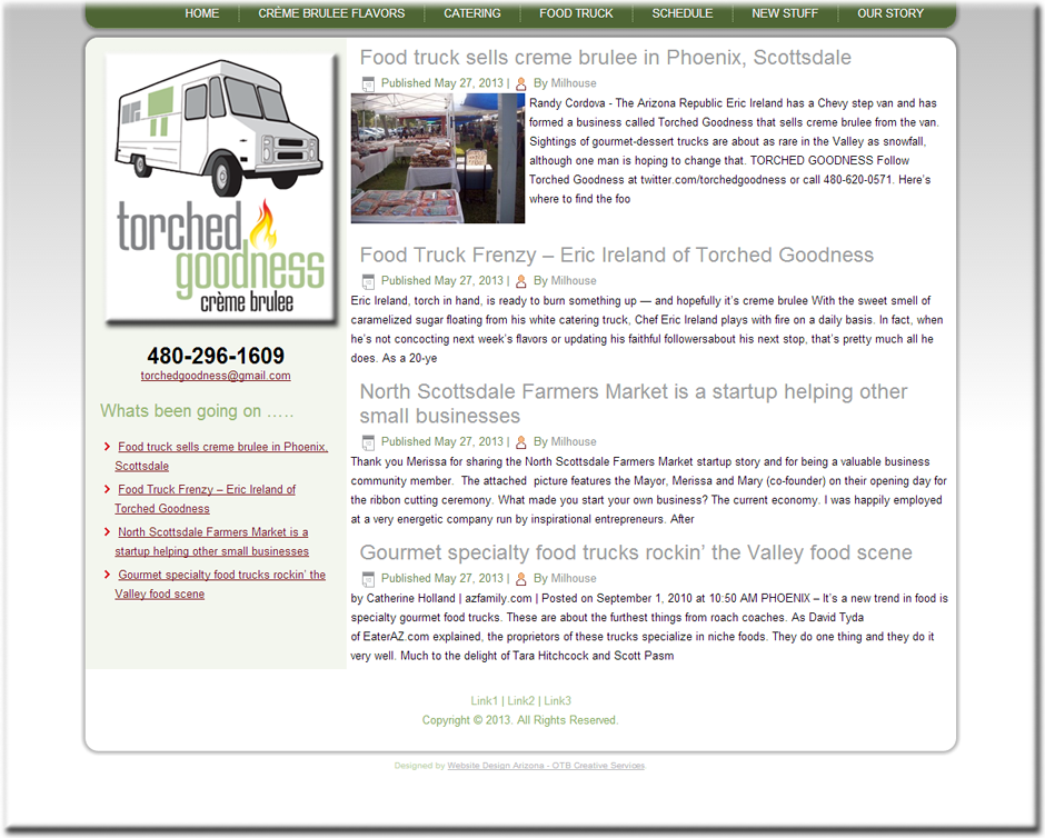 Torched Goodness WordPress Website by Web Guy Arizona