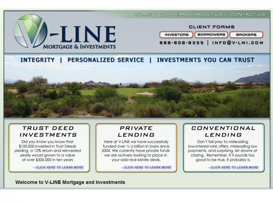 V-Line Mortgage & Investments Website
