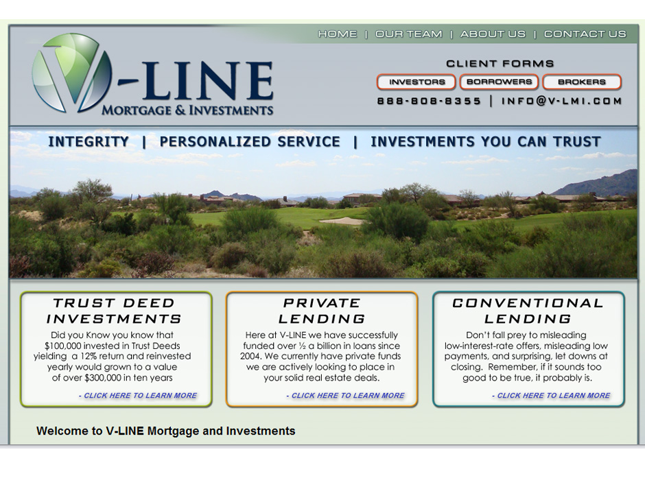 V Line Mortgage & Investments WordPress Website by Web Guy Arizona