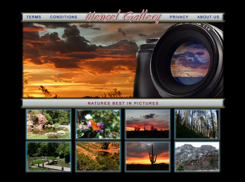 Wensel Arizona Photo Gallery Website