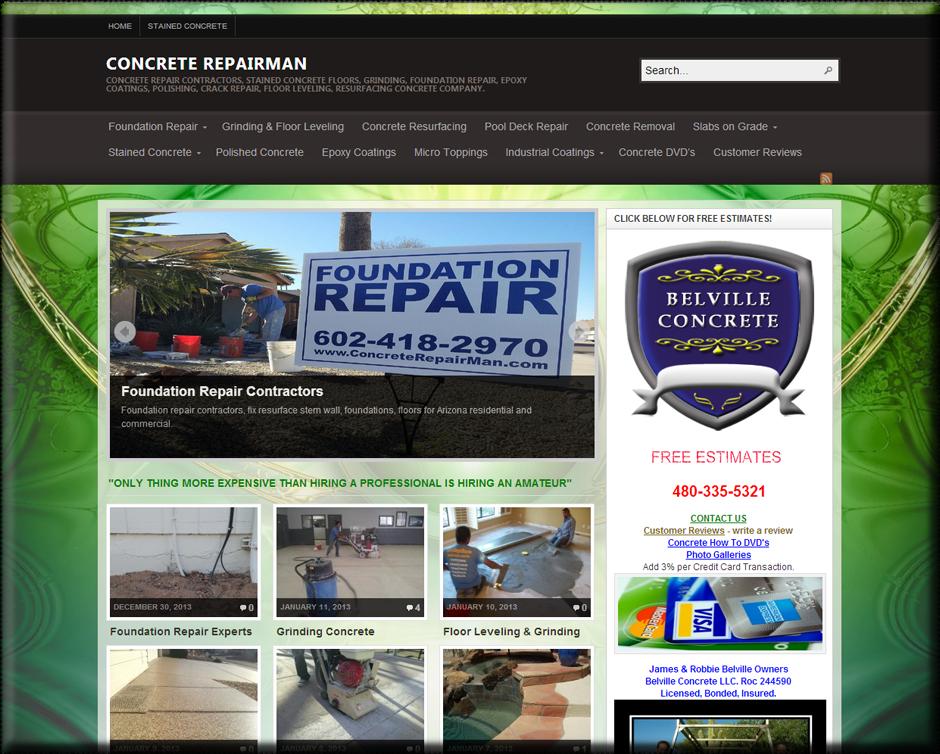 Concrete Repairman WordPress Website by Web Guy Arizona