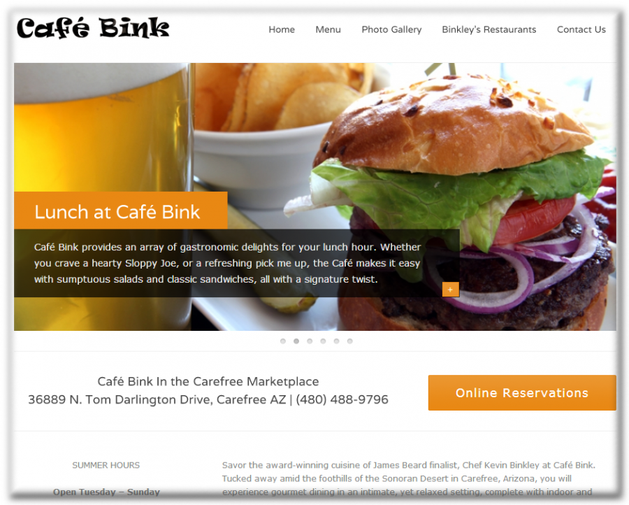 Cafe Bink Website